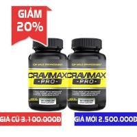 Giảm 20% khi mua Combo 2 lọ Cravimax-Pro hỗ trợ cải thiện chống xuất tinh sớm