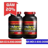 Giảm sốc 20% khi mua combo 2 viên uống Gravimax - Rx chống xuất tinh sớm