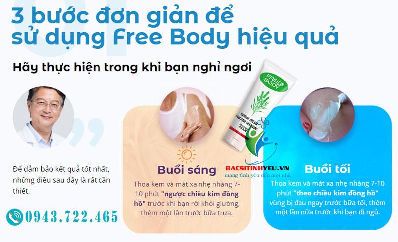 Hướng dẫn cách dùng free body - chữa khớp