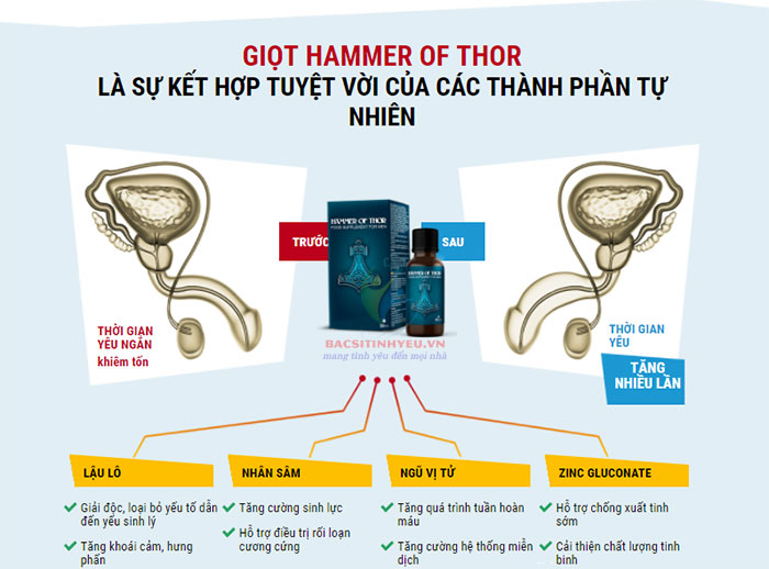 tác dụng của hammer of thor nga có thật sự tốt