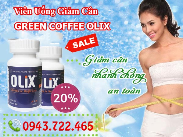 combo giam can green coffee olix new 2017